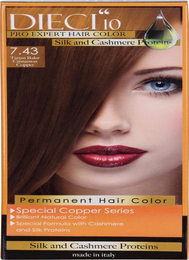 Dıecı Dıecı 10 Eko Kit Saç Boyası 7,43 Tarçın Bakır Oranj